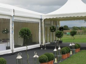 Corporate Marquee Hire by Key Structures Ltd offering a full turn key solution. (9)