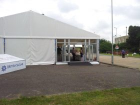 Corporate Marquee Hire by Key Structures Ltd offering a full turn key solution. (8)