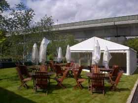 Hire a 6m clearspan marquee