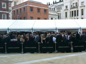 Corporate Marquee Hire by Key Structures Ltd offering a full turn key solution. (4)