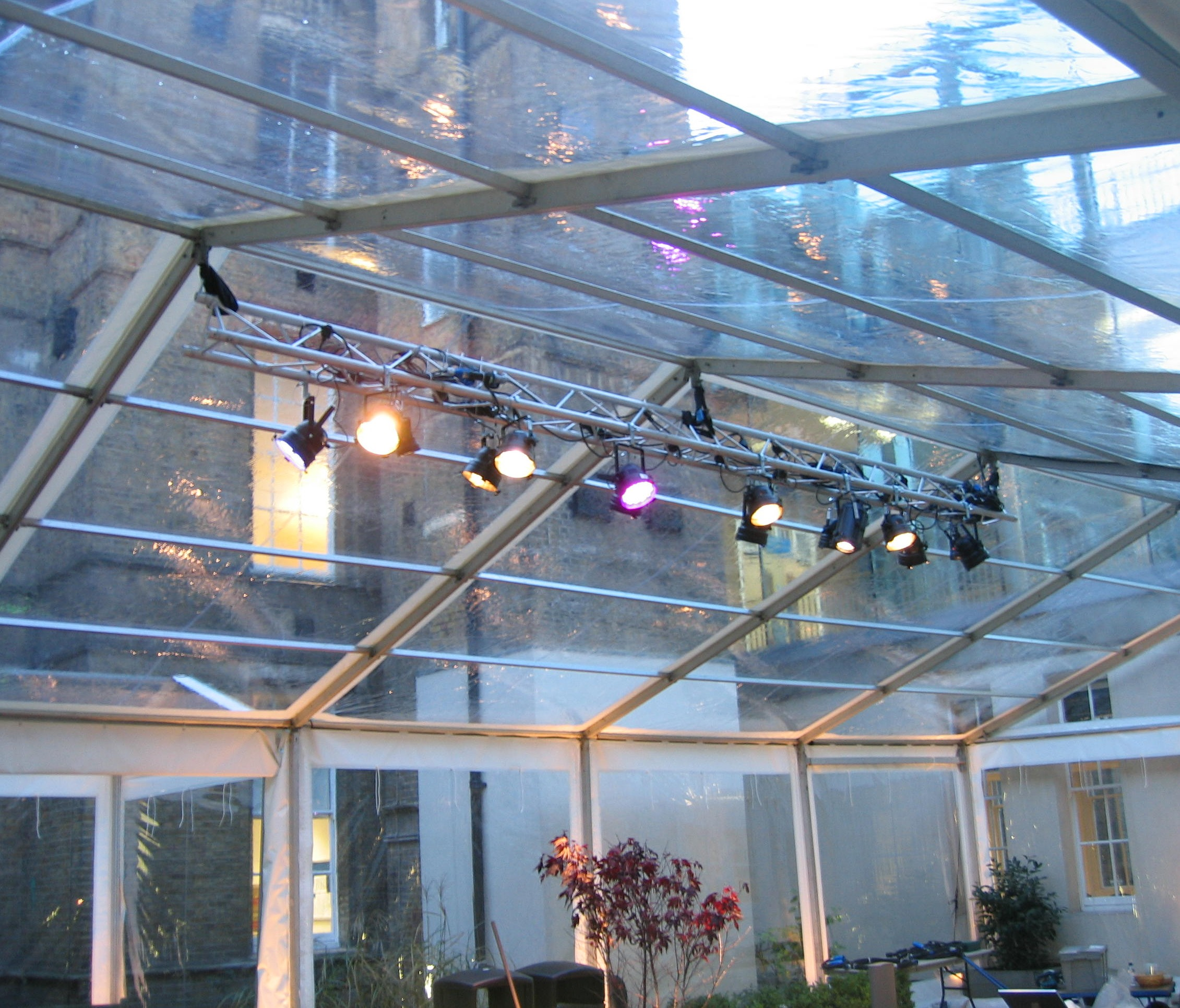 Clear Roof Marquee Key Structures Ltd