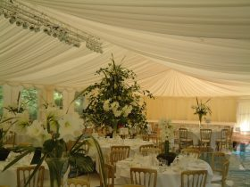 Pleated Stock Interior interior offers an elegant finish to your marquee. (2)