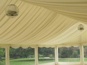 Pleated Stock Interior interior offers an elegant finish to your marquee. (6)