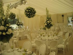 Pleated Stock Interior interior offers an elegant finish to your marquee. (4)