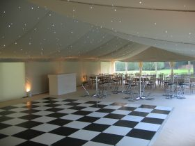 Flat stock lining for your hire marquee from Key Strucutres Ltd (6)