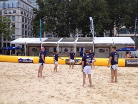 Beach rugby sport event marquee hire