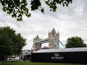 Branded marquee hire in London from Key Structures Ltd
