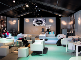 Branded marquee interior, discuss your requirements with Key Structures now