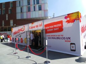 Branded marquee hire, high impact event branding