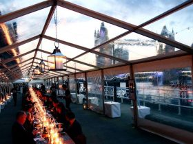 Clear roof marquee hire London