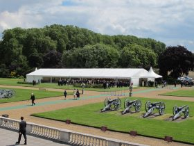 Corporate event marquee hire from Key Structures Ltd