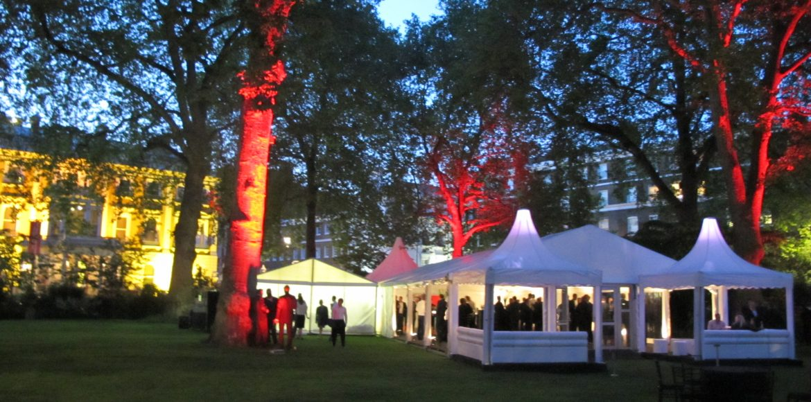 Corporate party marquee hire, request a quote from Key Structures Ltd