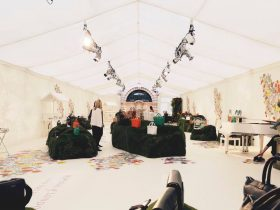 Experiential marquee interior, create your branded experience with Key Structures Ltd