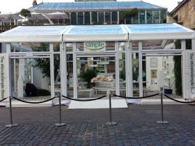 Branded experiential marquee ask Key Structures to quote for your event now
