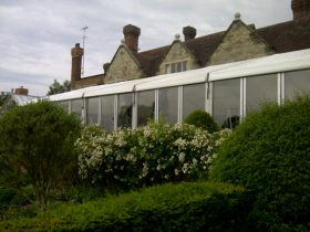 Glass walled marquee