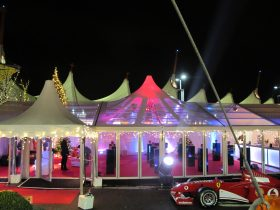 Motorsport event marquee hire from Key Structures Ltd