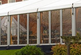 Glass and hard sided marquees