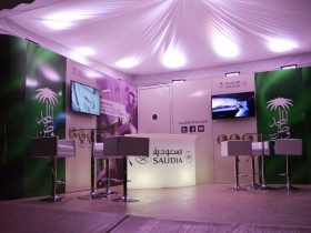 Branded pop-up store marquee hire from Key Structures Ltd