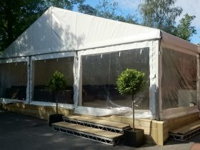 Timber marquee skirting