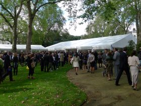 Graduation ceremony marquee London
