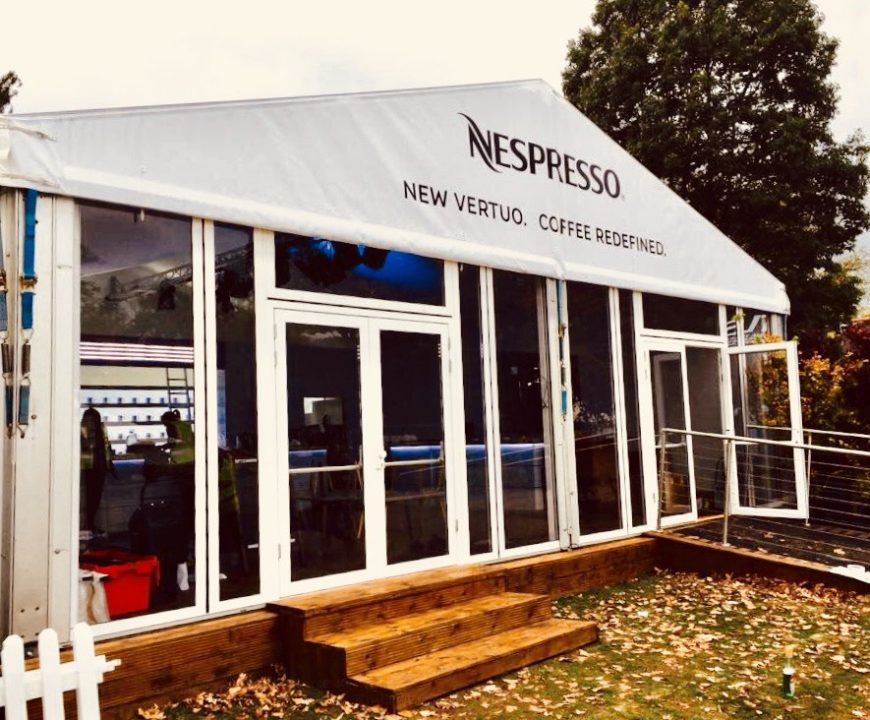 Branded marquee Nespresso